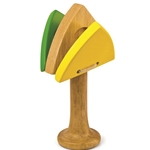 Green Tones Triangle Castanet
