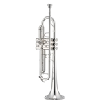 Jupiter Silver Plated Reverse Lead Pipe Trumpet