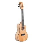 Kala All Solid Flame Maple Concert Cutaway